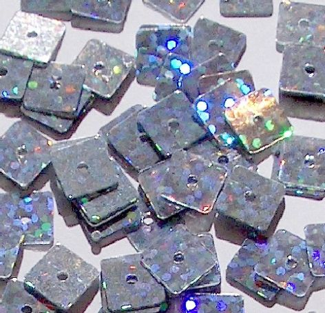 DISCONTINUED  Value Pack 7mm Hologram Silver Square Sequins x 1500. SAVE £3